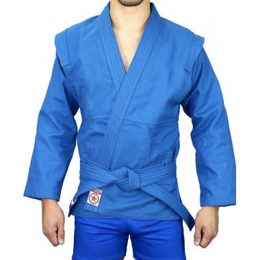 """Куртка для самбо с подкладом, синяя  """"АТАКА"""""""