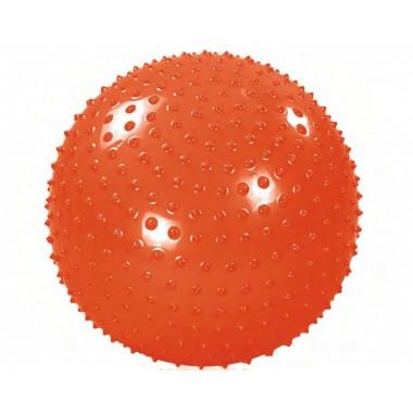 Мяч гимнастический массажный с насосом 65см  EASY BODY