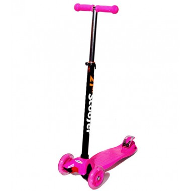 Самокат 3-х колесный Scooter Maxi, розовый HIT TOY