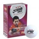 Мяч н/т 3*  пластик, белые 40мм (6шт) Double Happiness DHS
