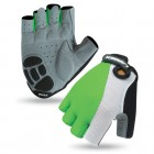 Велоперчатки зеленые  LARSEN 01-1226